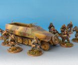 German Heer squad and Sd.Kfz. 251 Half Track